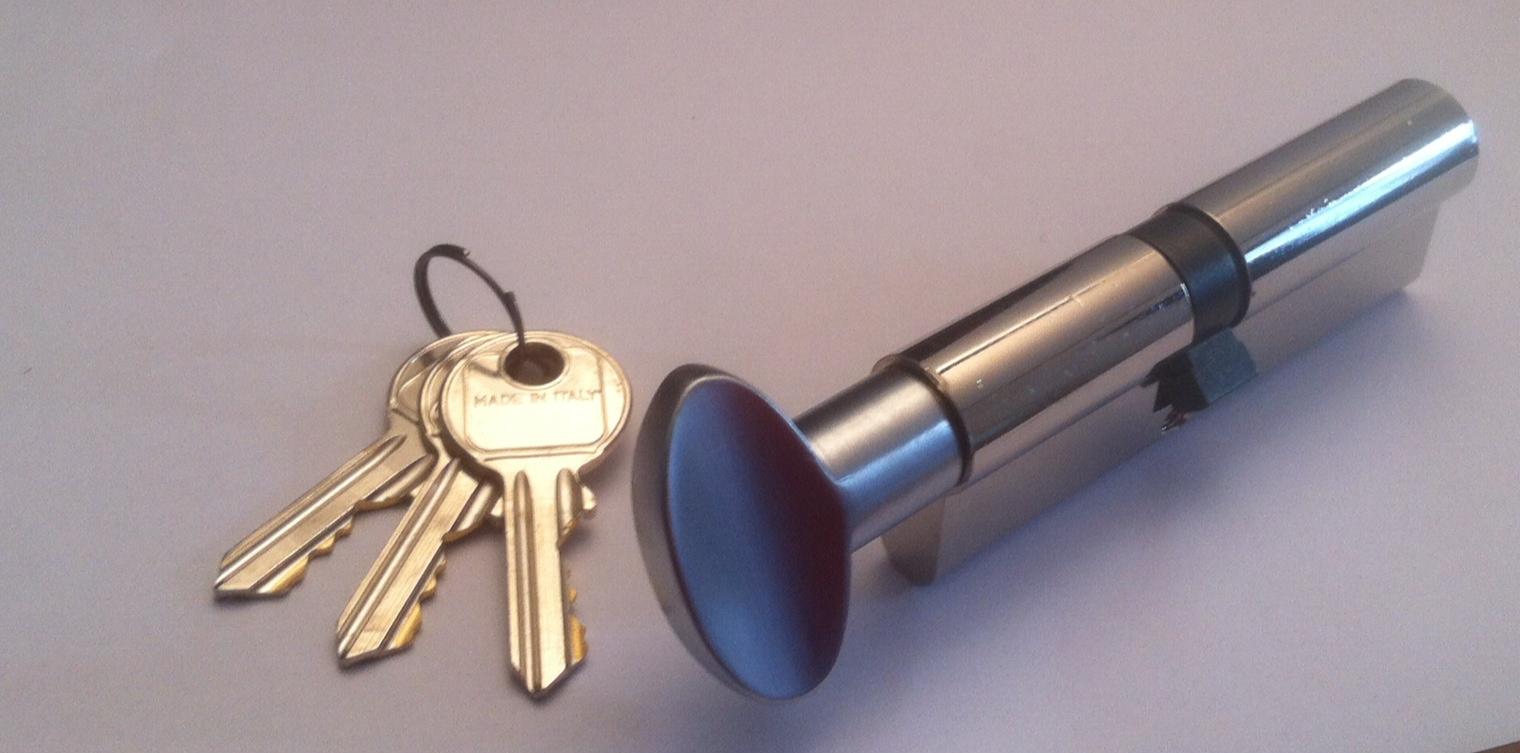 cilindri standard con pomolo finitura nichel