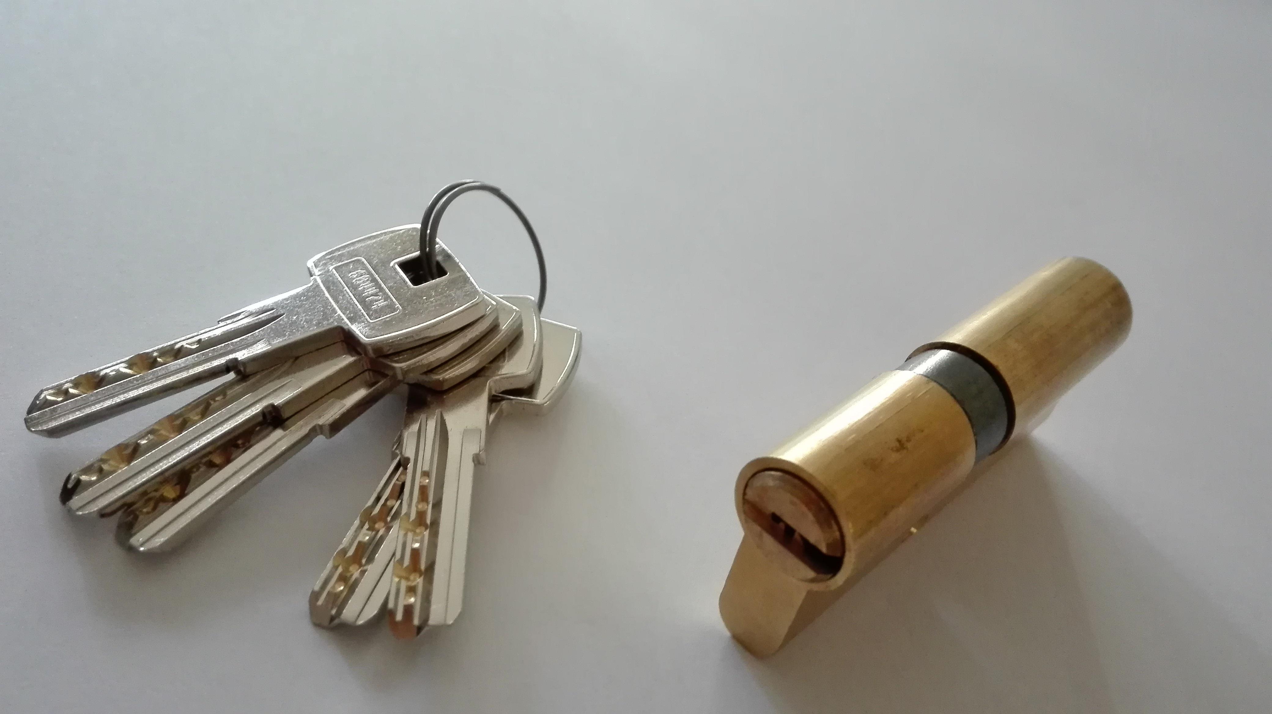 cilindri di sicurezza finitura ottone