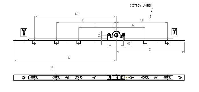 Cremonese a nottolino df23 windoormarket precedenza alla qualita 39 - Meccanismo cremonese finestra ...